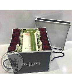 باکس گل رز قرمز هلندی - 105