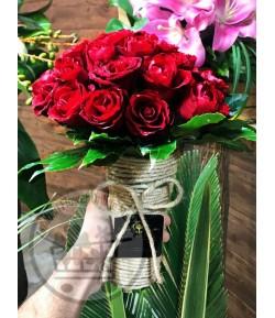 دسته گل رز قرمز-204