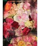 دسته گل رز چند رنگ