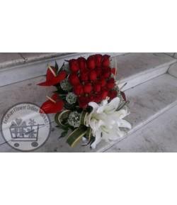 سبد گل رمانتیک - 304