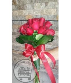دسته گل رز قرمز -219