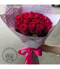 دسته گل رز قرمز فانتزی - 207