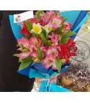 دسته گل زیبای آلسترومریا-208