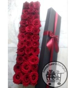 باکس گل رز قرمز -133