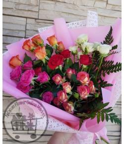 دسته گل رز شاخه ای -215