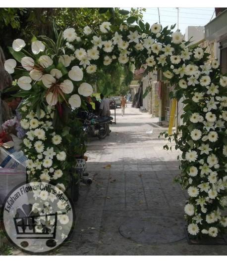 تاج گل ورودی مجالس و مهمانی ها